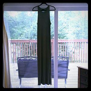 Fatigue green full length maxi dress BNWOT